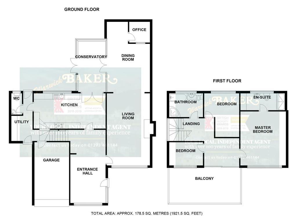 Floorplan 1 of 5: 18 FALCON CLOSE, SHOREHAM.jpg