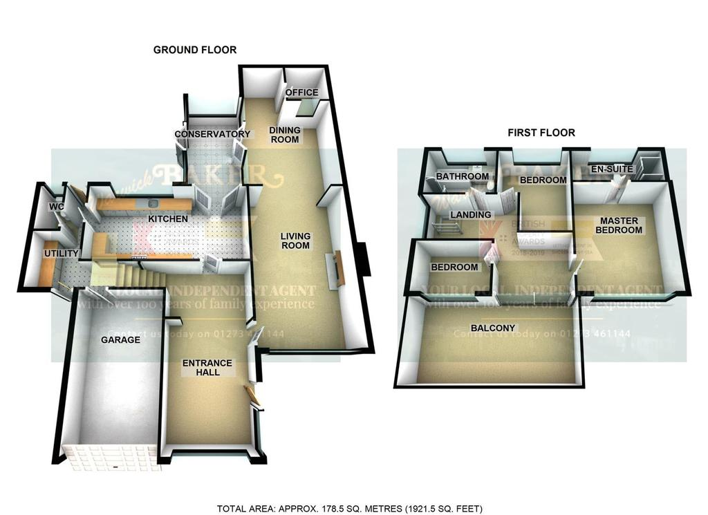 Floorplan 3 of 5: 18 FALCON CLOSE, SHOREHAM.jpg3 D.jpg