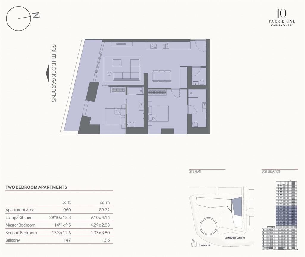 Floorplan: Canary Wharf, E14