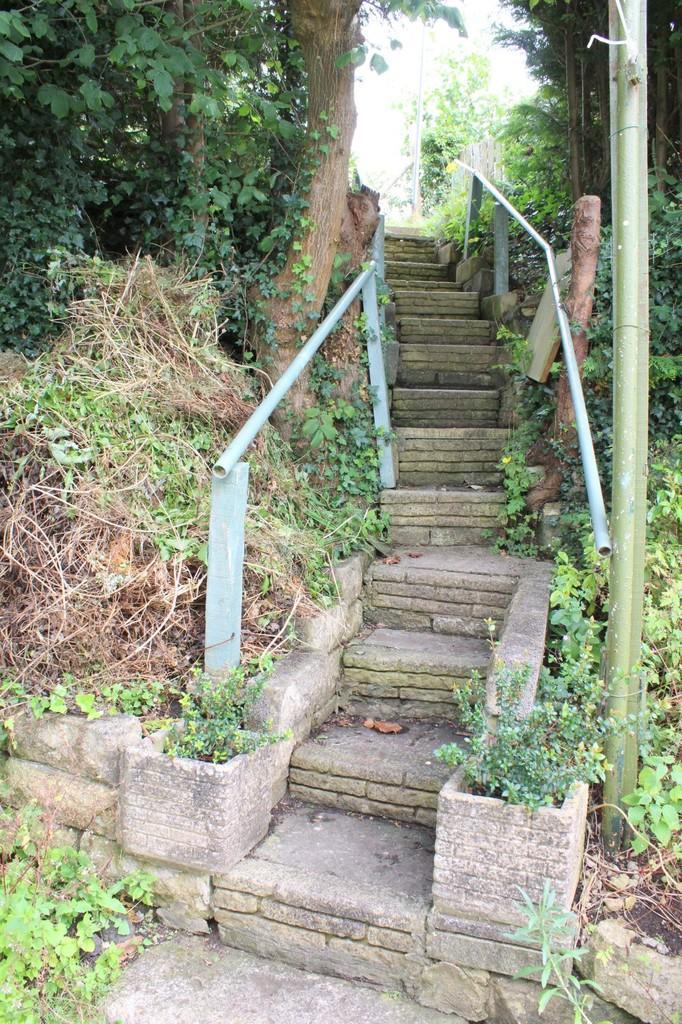 Steps to upper rear garden