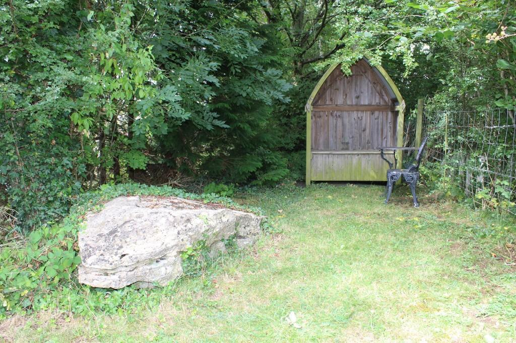Upper rear garden