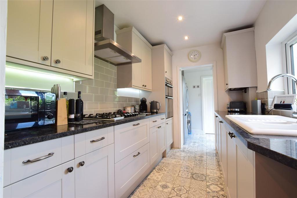 Kitchen into utility area