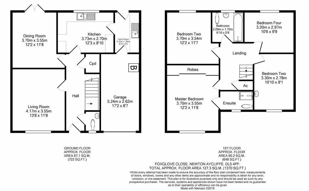 Floorplan: Foxglove Close Newton Aycliffe DL54 PF print.JPG