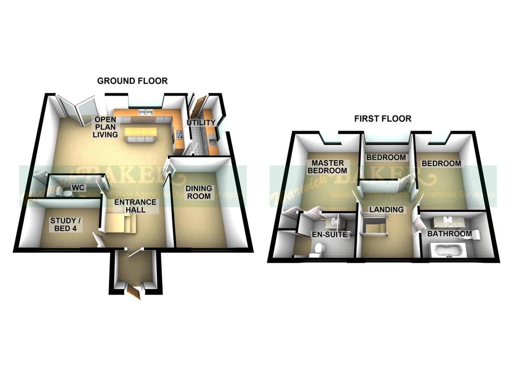 Floorplan 2 of 2: 2 SWALLOWS CLOSE, LANCING.jpg3 D.jpg