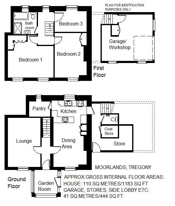 Floorplan: Moorlands, 1 Frog Lane, Tregony Floor Plan b.jpg