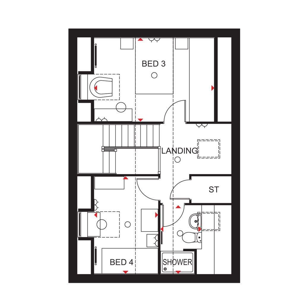 Floorplan 2 of 3: Hertford Second Floor