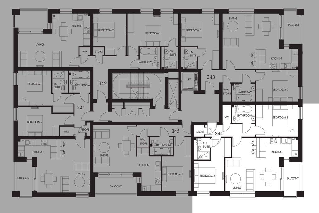 Floorplan: Plot 344 floor plan