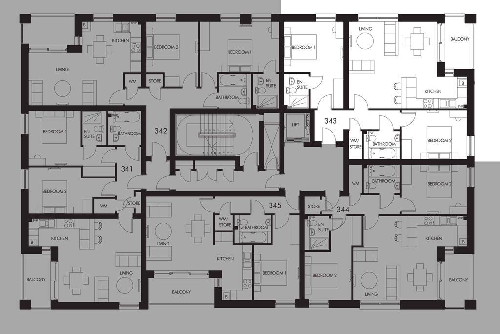 Floorplan: Plot 343 floor plan