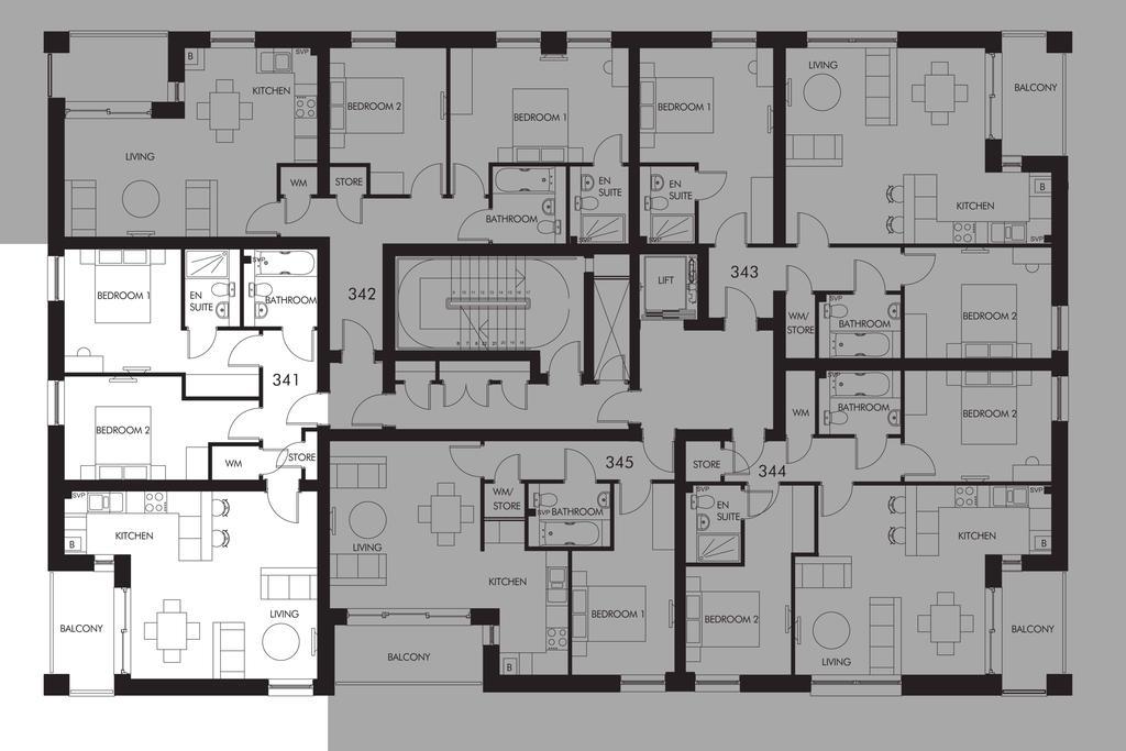 Floorplan: Plot 341 floor plan