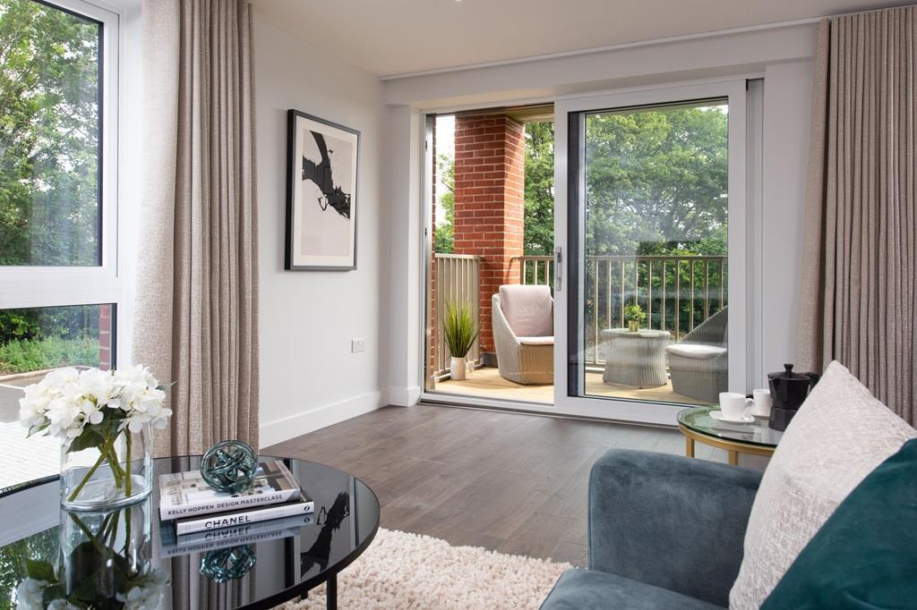 Show apartment lounge to terrace