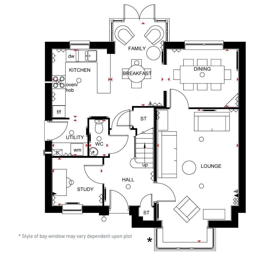 Floorplan 1 of 2: 4 bed Cambridge home ground floor
