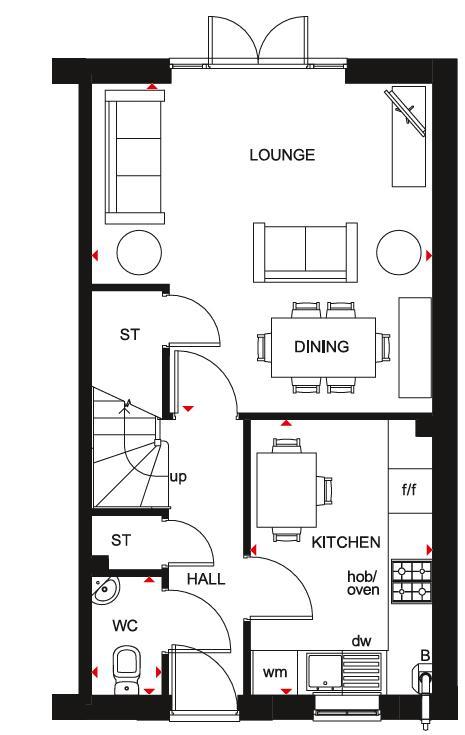 Floorplan 1 of 2: Folkestone GF Plan