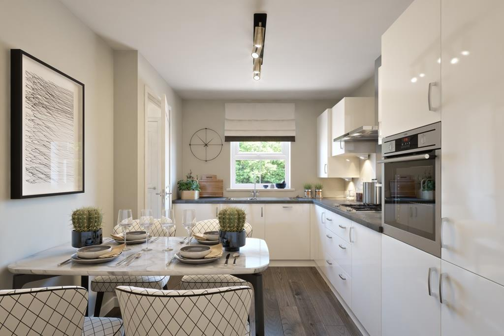 The Bedale bungalow kitchen CGI