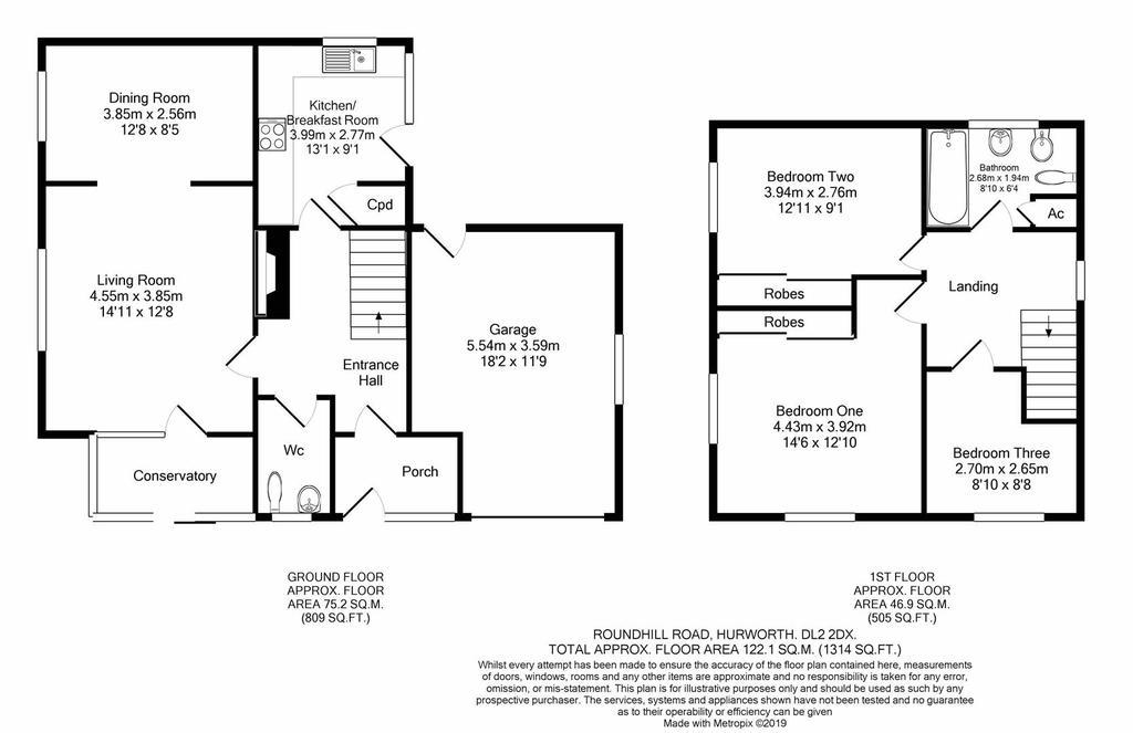 Floorplan: Roundhill Road Hurworth DL22 DX print.JPG