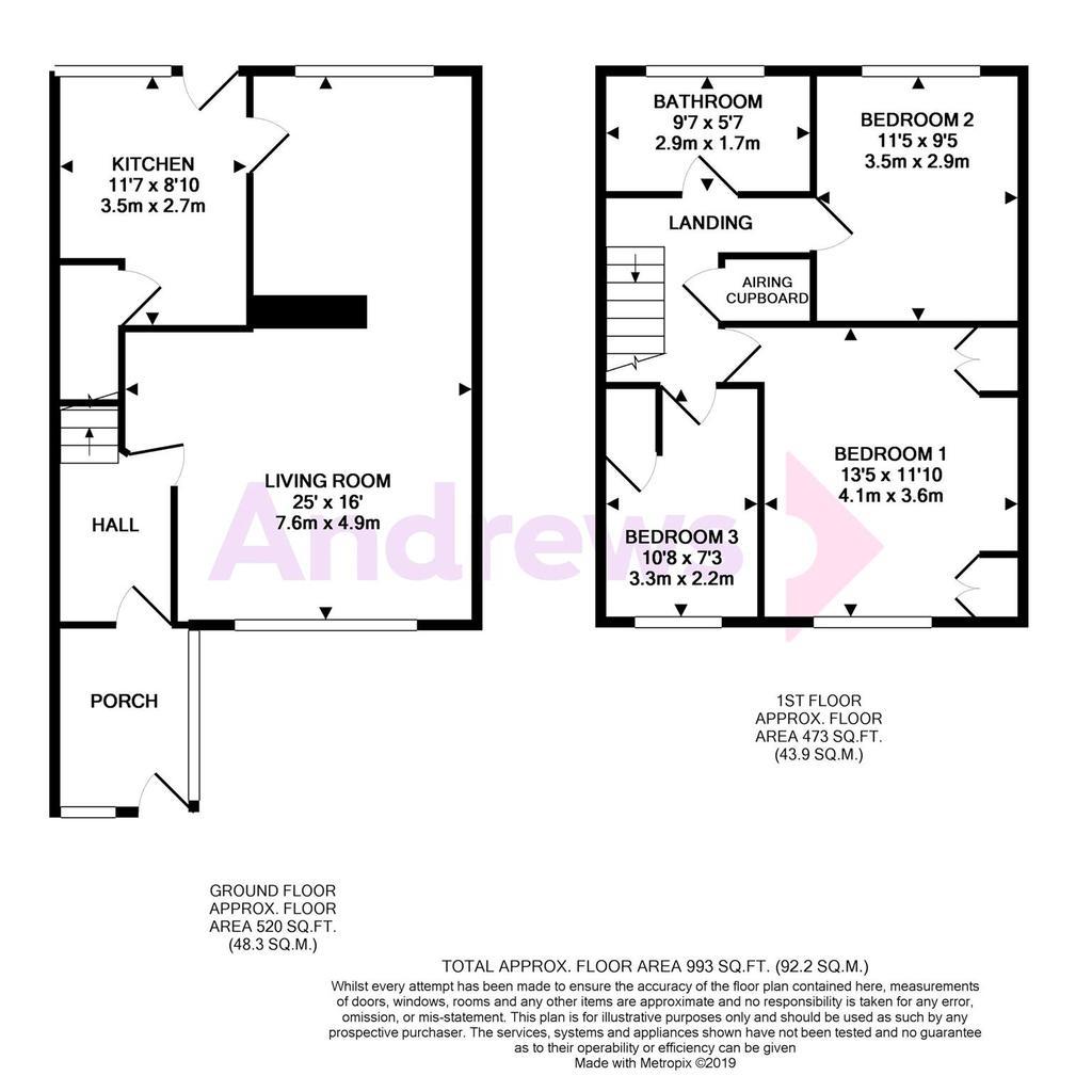 Floorplan: 21 Birling Drive metropix12742560