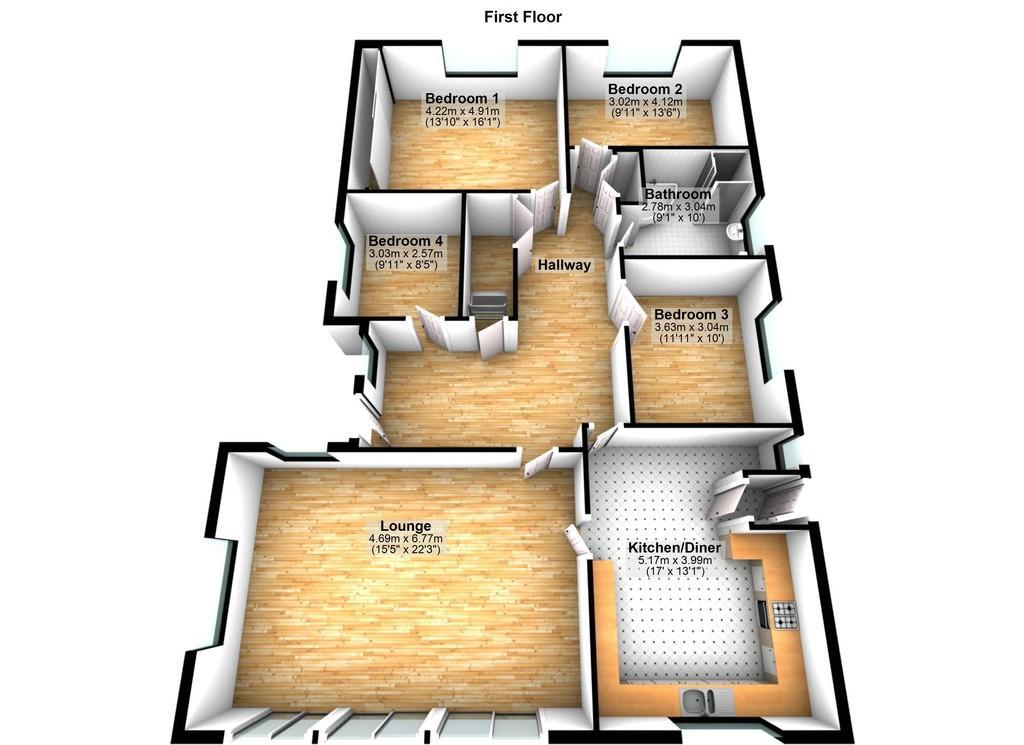 Floorplan 2 of 2: Living Quarters