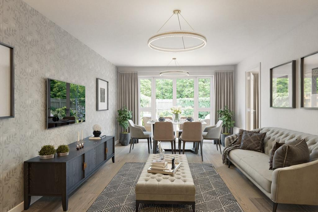 The Midhurst bungalow lounge CGI
