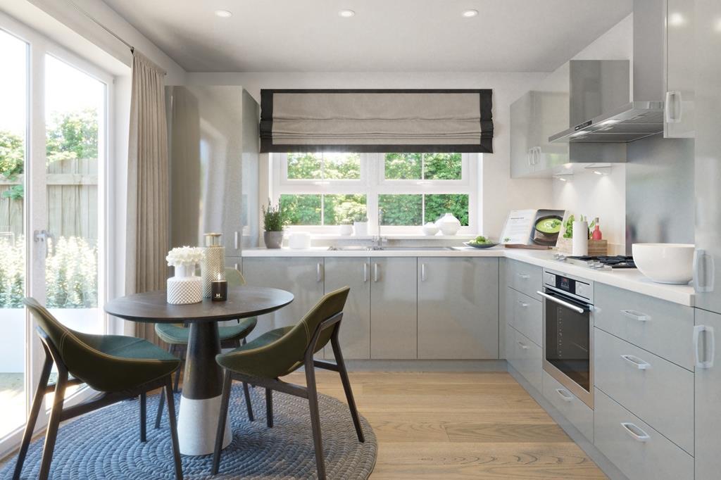 The Midhurst kitchen lounge CGI