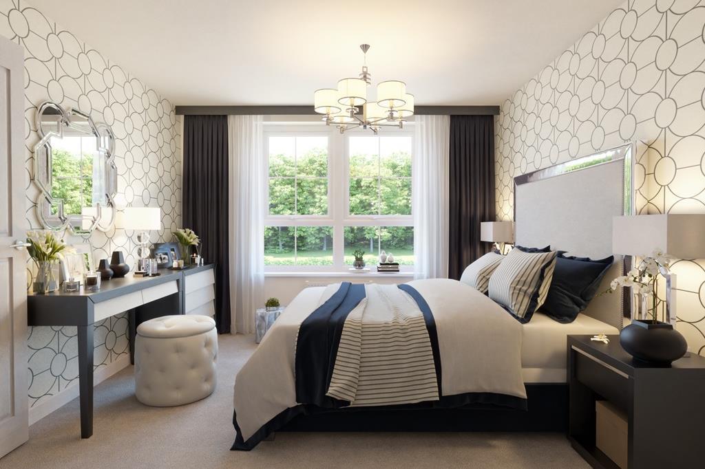 The Midhurst bedroom lounge CGI