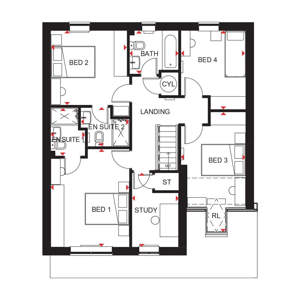 Floorplan 2 of 2: Harwich First Floor Plan