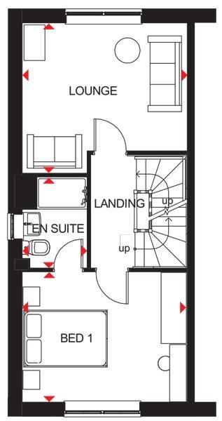 Floorplan 3 of 3: Queensville first floor plan