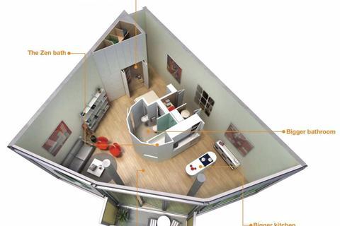 Studio to rent - Abito, Greengate, Plus - Manchester