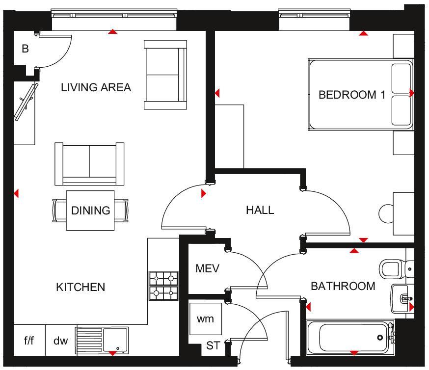 Floorplan: Type E and N