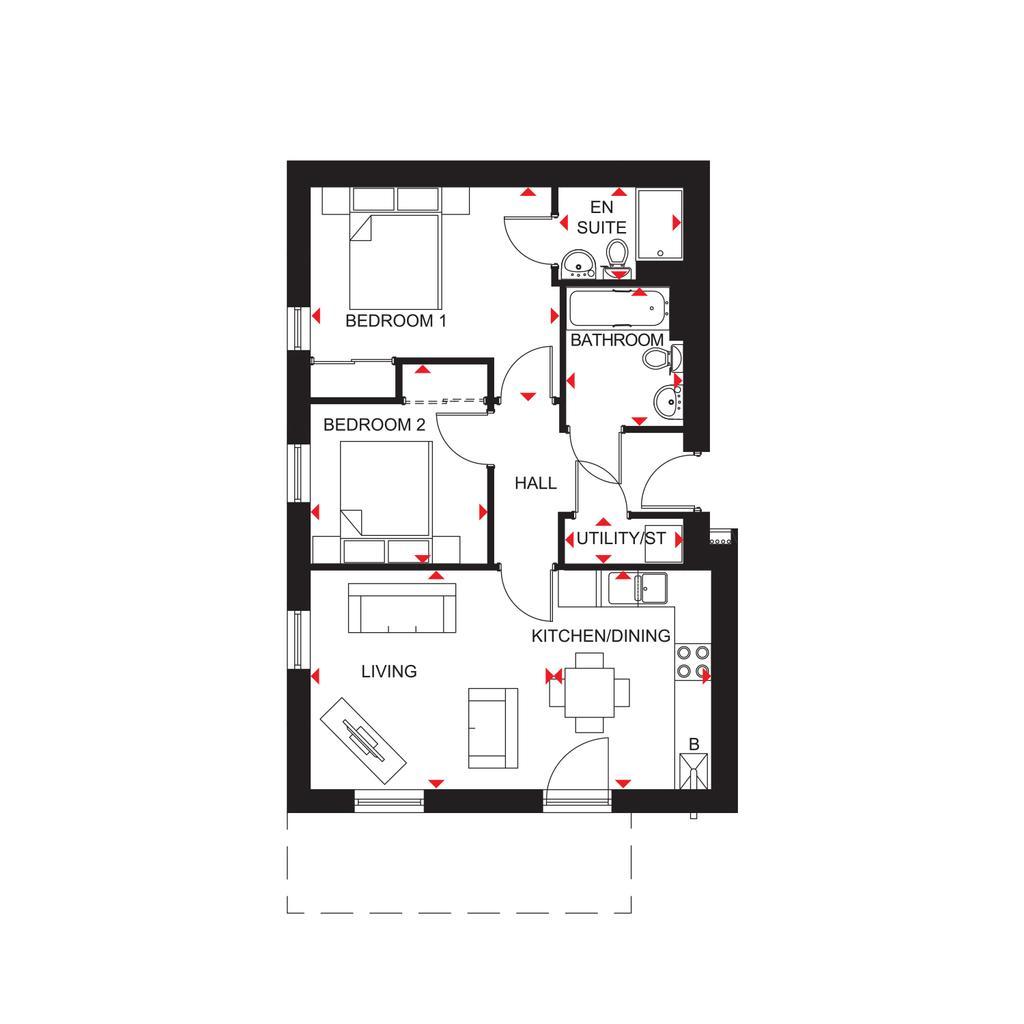 Floorplan: North Scotland Riverside Quarter H7354