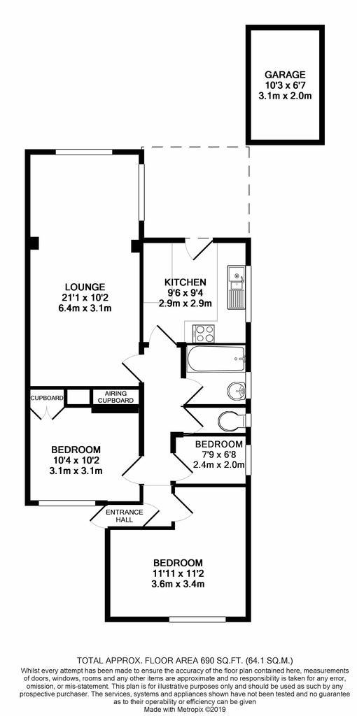 Floorplan: 9a Bower Road print