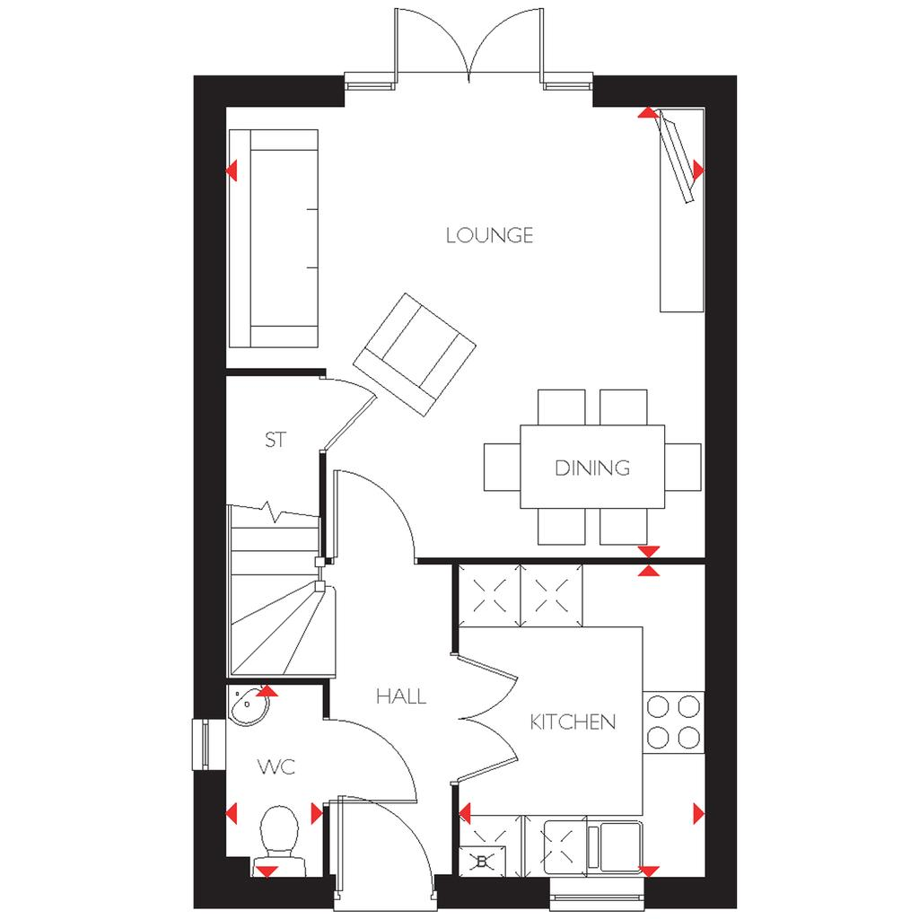 Floorplan 1 of 2: Tilford   Ground Floor