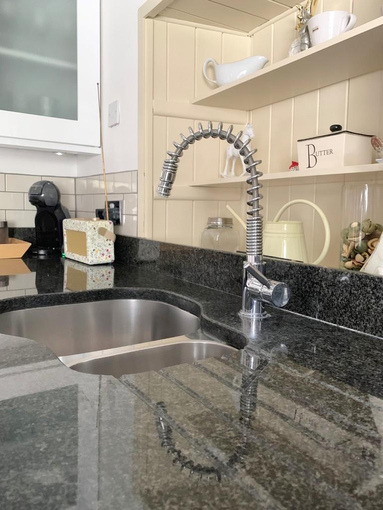 Granite worktops and sink