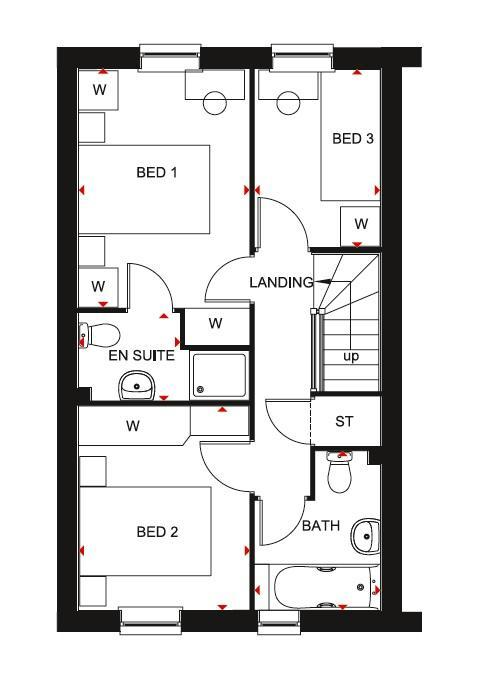 Floorplan 2 of 2: Barwick first floor plan