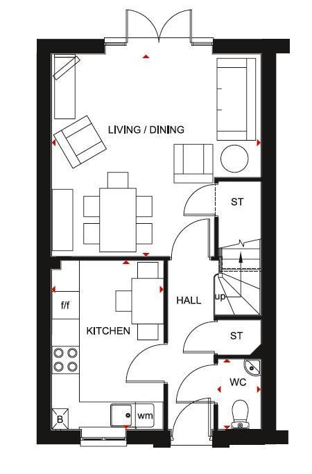 Floorplan 1 of 2: Barwick ground floor plan