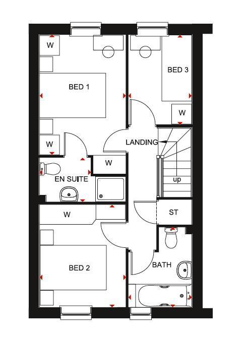 Floorplan 2 of 2: Barwick first floor plan