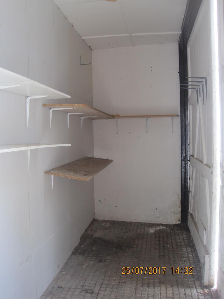 External storage cupboard