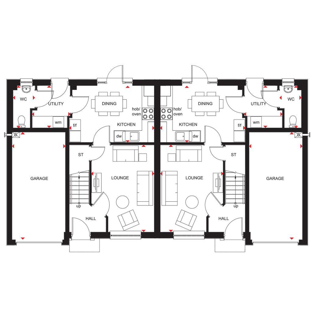 Floorplan 1 of 2: Ravenscraig semi 2018