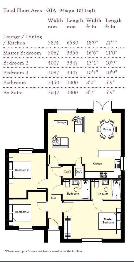 Floorplan: Plots 5 floor plan