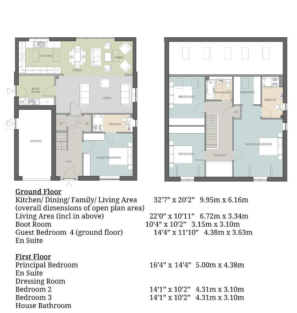 Floorplan: Plot 2 Floor Plans & Dimensions