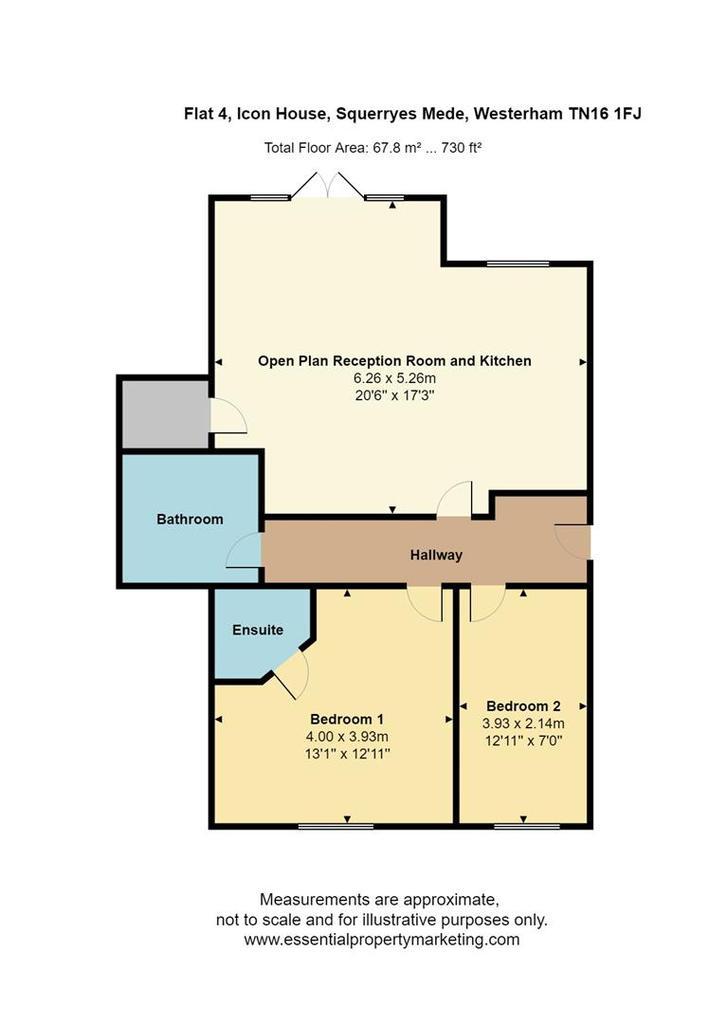Floorplan: Flat 4, Icon House, Squerryes Mede, Westerham TN16