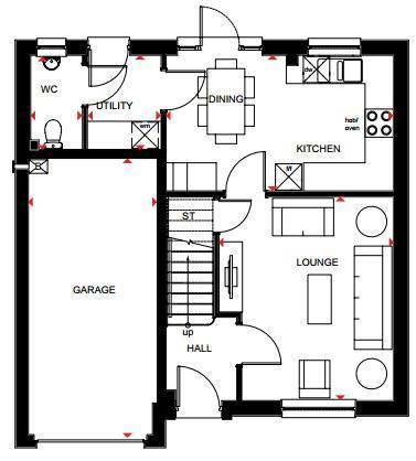 Floorplan 1 of 2: Invercauld ground floor