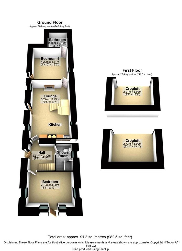 Floorplan 2 of 3: Pwll Melyn, Rhiw, Pwllheli.jpg