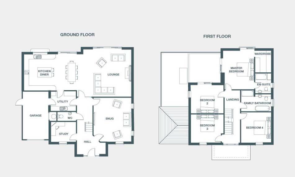 Floorplan 1 of 2: Ground & First Floor