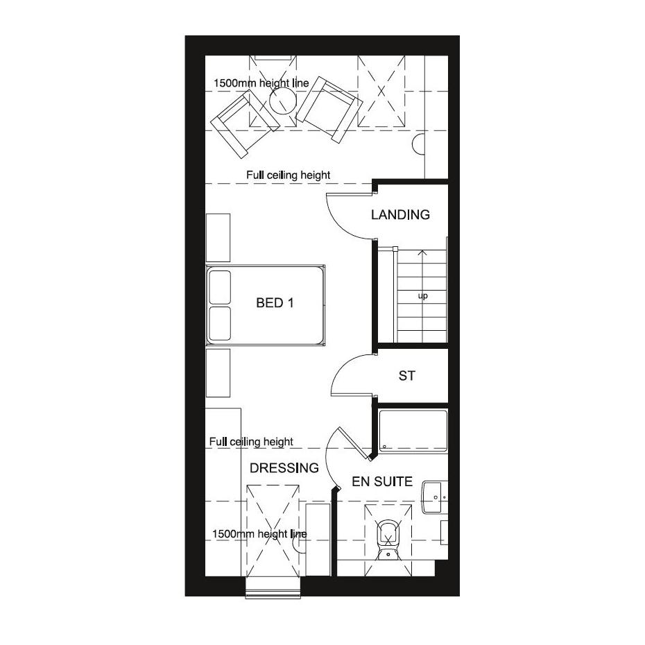 Floorplan 2 of 3: Norbury second floor floor plan
