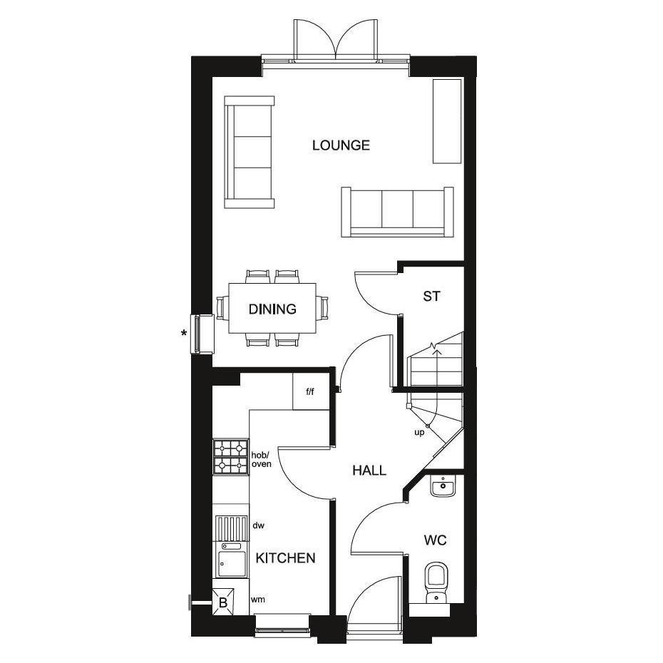 Floorplan 2 of 3: Norbury ground floor floor plan