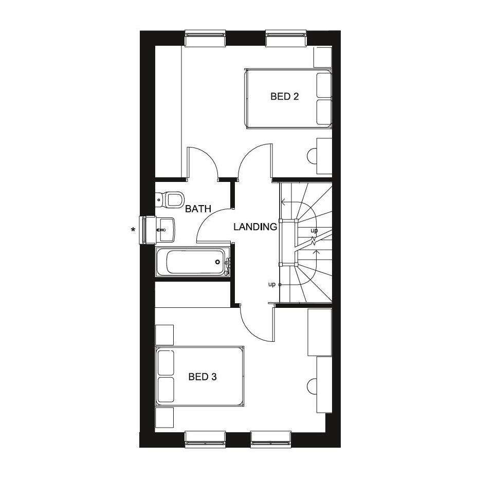 Floorplan 3 of 3: Norbury First Floor floor plan