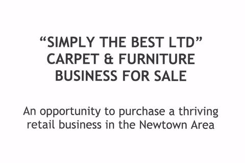 Property for sale - Simply The Best Ltd, Carpet & Furniture Business For Sale, Newtown, Powys, SY16