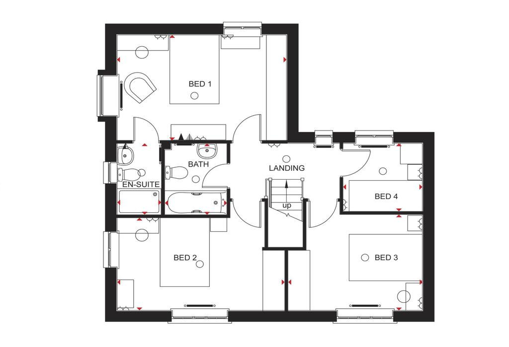 Floorplan 1 of 2: Lincoln first floor