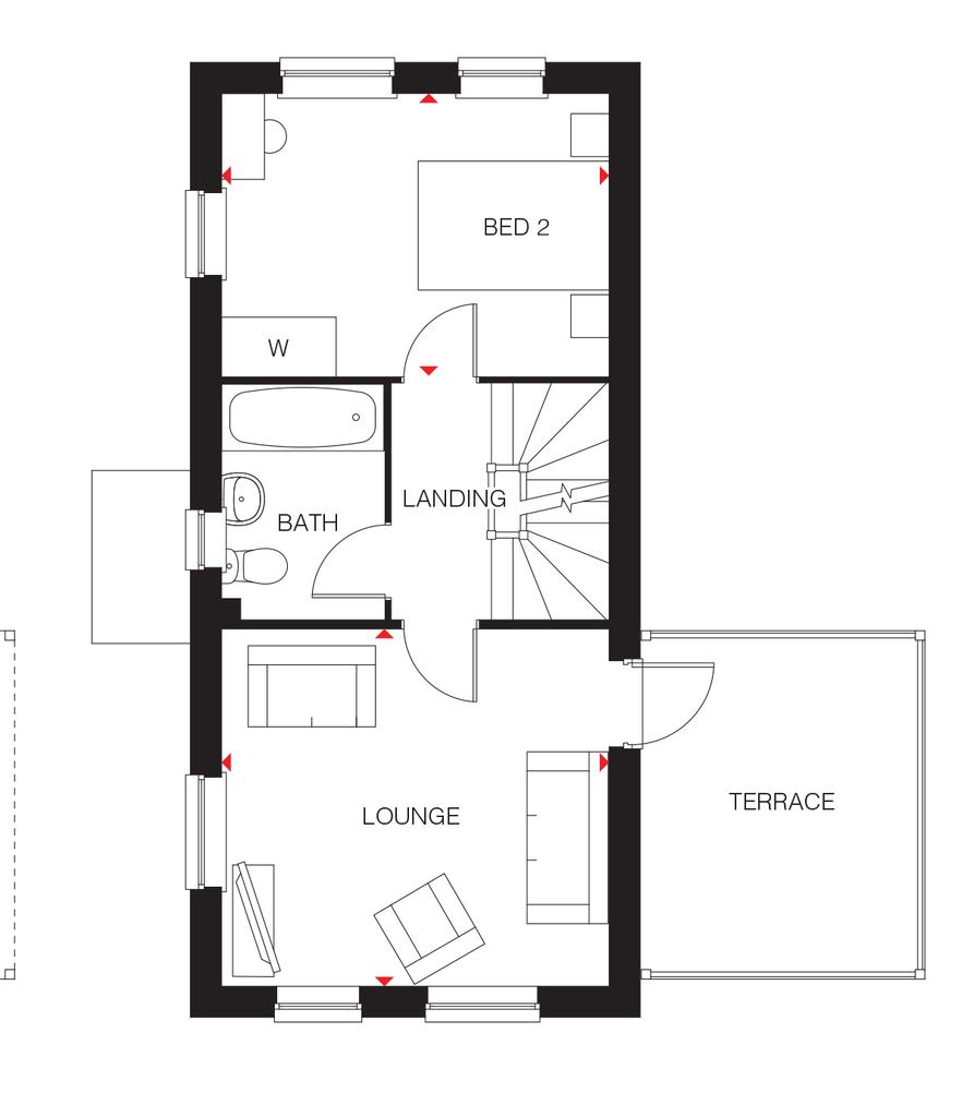 Floorplan 2 of 3: The Hazel first