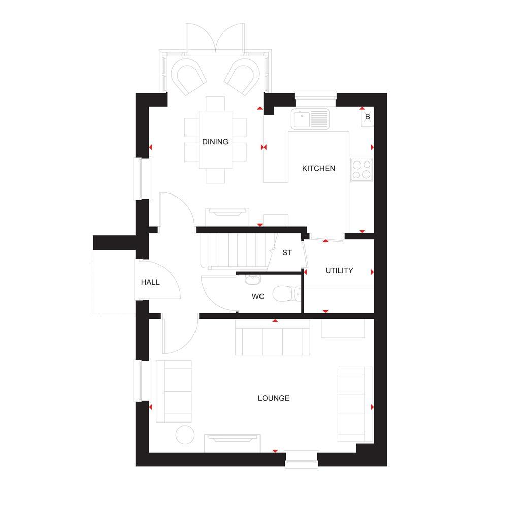 Floorplan 1 of 3: The Elm ground floor
