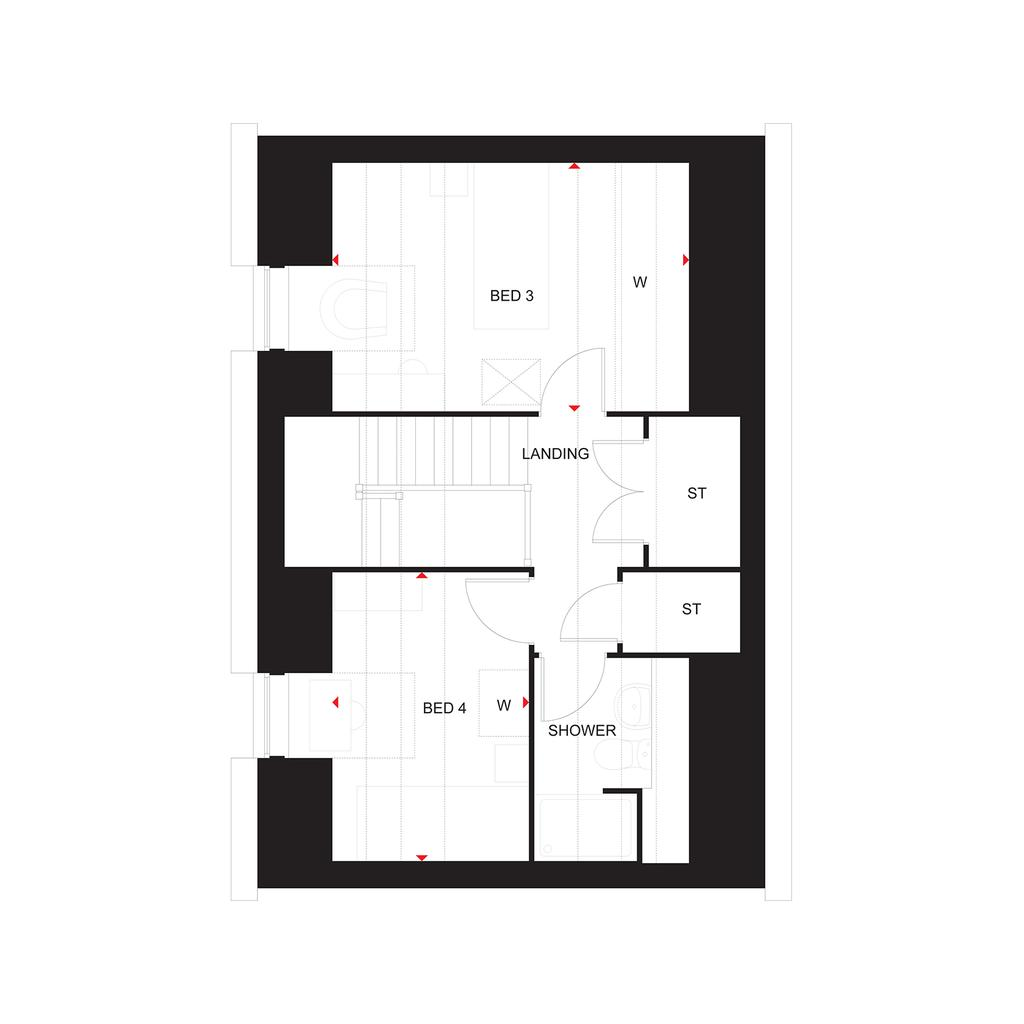 Floorplan 3 of 3: The Elm second floor